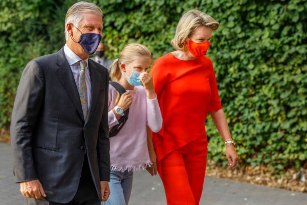 BEL: Princess Eleonore Of Belgium Attends First Day Of School At The Sacred Heart College In Tervuren