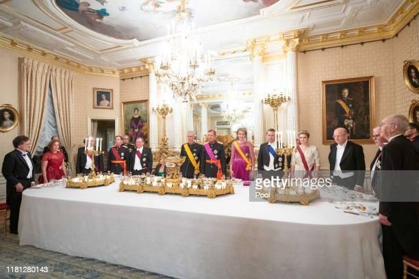 King Philippe of Belgium Queen Mathilde Grand Duke Henri of Luxembourg Grand Duchess Maria Teresa of Luxembourg Hereditary Grand Duke Guillaume...