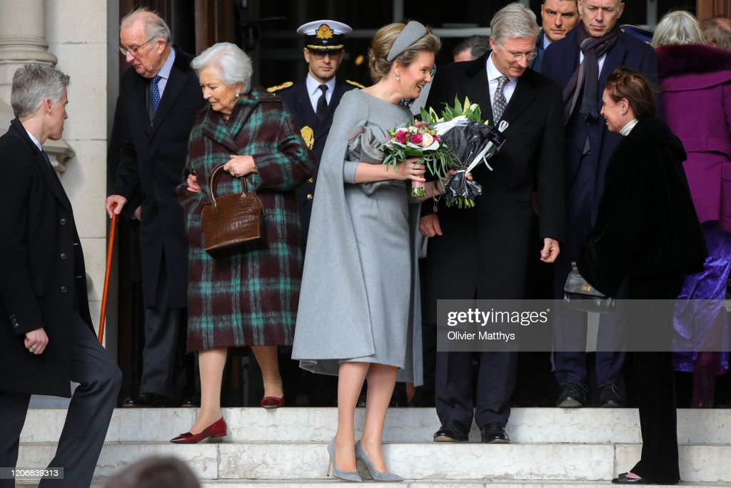 Belgium Royal Family Attends The Annual Memorial Mass For Deceased Members Of The Royal Family at the Church of Our Lady : News Photo