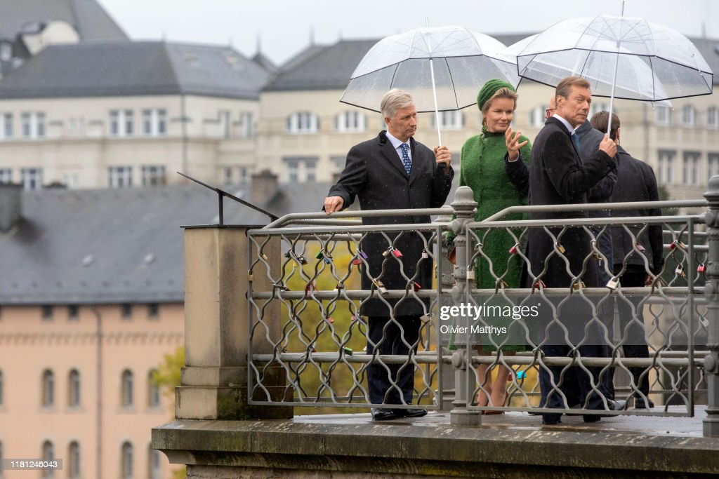 King Philippe Of Belgium And Queen Mathilde Of Belgium : State Visit In Luxembourg - Day One : Nieuwsfoto's