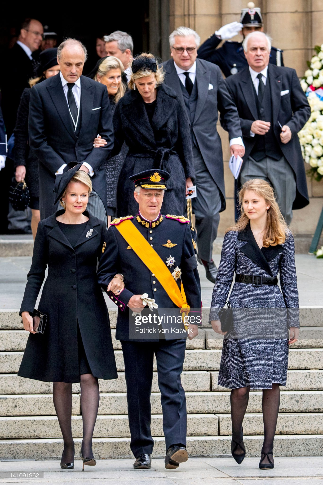 Похороны Великого Герцога Жана https://media.gettyimages.com/photos/king-philippe-of-belgium-queen-mathilde-of-belgium-and-princess-of-picture-id1141091962?s=2048x2048