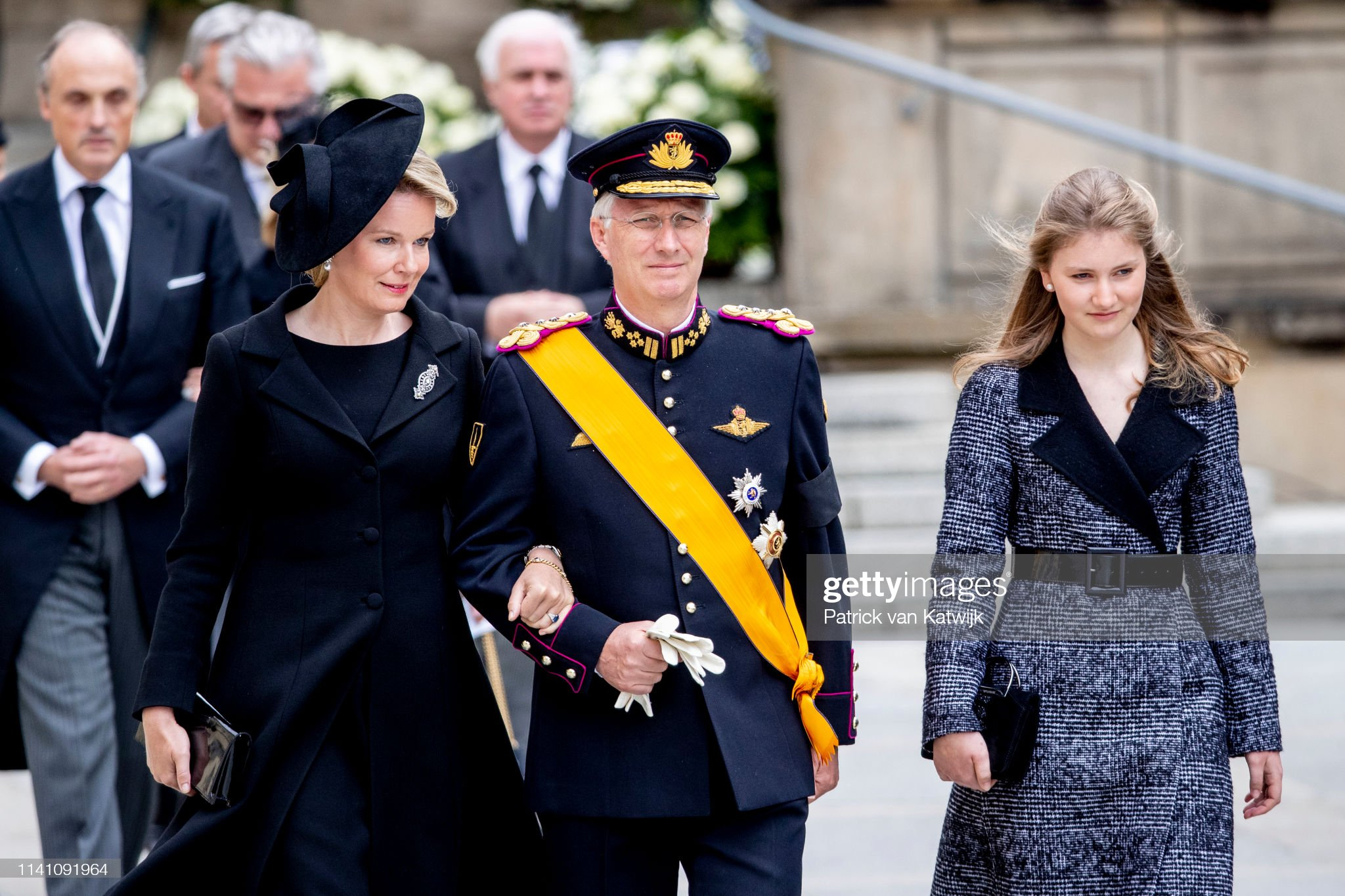 Похороны Великого Герцога Жана https://media.gettyimages.com/photos/king-philippe-of-belgium-queen-mathilde-of-belgium-and-princess-of-picture-id1141091964?s=2048x2048
