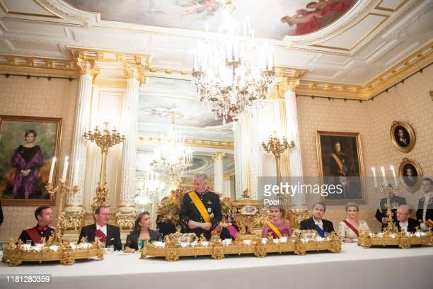 King Philippe of Belgium Queen Mathilde of Belgium Grand Duke Henri of Luxembourg Grand Duchess Maria Teresa of Luxembourg Hereditary Grand Duke...