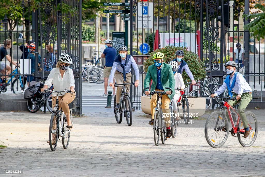 Belgian Royal Family Attend Car Free Day In Brussels : News Photo
