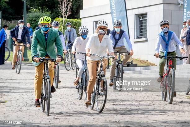 King Philippe of Belgium, Queen Mathilde of Belgium, Prince Gabriel of Belgium, Prince Emmanuel of Belgium and Princess Eleonore of Belgium together...