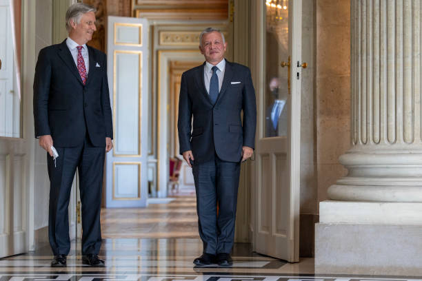 BEL: King Philippe Of Belgium Receives King Abdullah II Ibn Al Hussein Of Jordan At the Royal Castle In Brussels