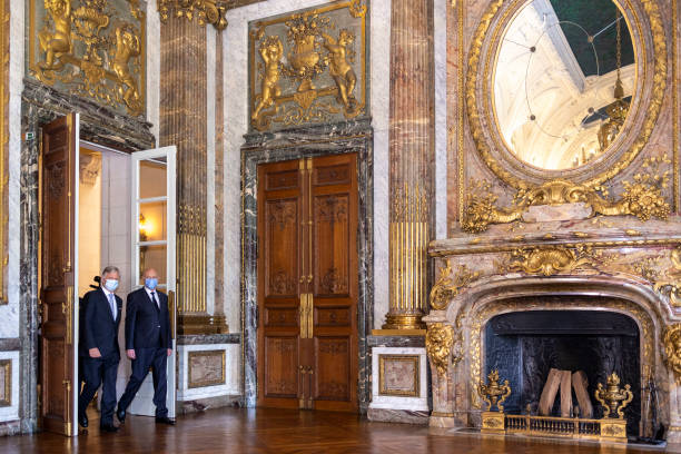 BEL: King Philippe Of Belgium Receives  President Of The Republic Of Tunisia Kais Saied At Royal Palace In Brussels