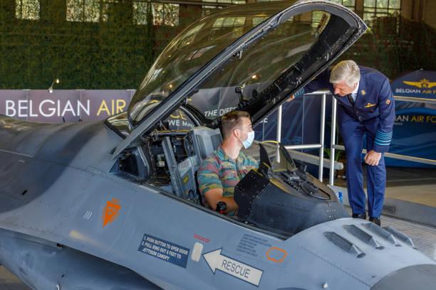 BEL: King Philippe Of Belgium Visits The Kleine-Brogel Air Force Base Crew