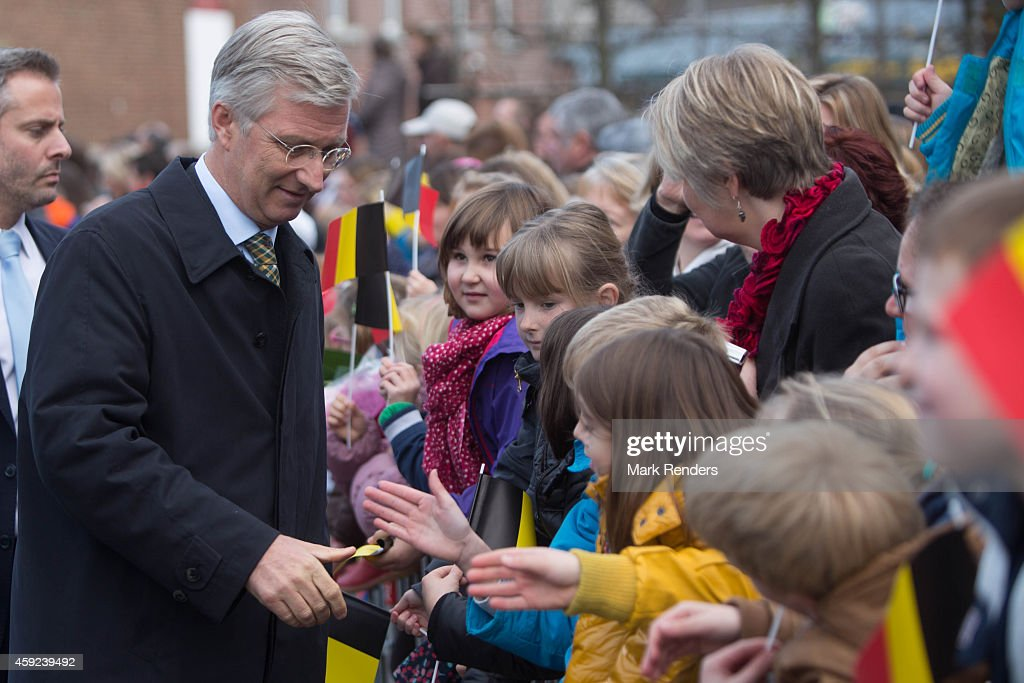 King Philippe Of Belgium and Queen Mathilde Of Belgium On A one Day Visit In Namur : News Photo