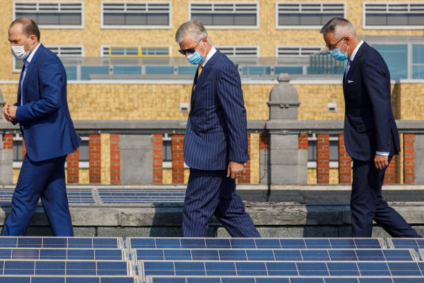 BEL: King Philippe Of Belgium Visits The EnergyVision Solar Panel Installation On The Roof Of Gare Maritime In Brussels