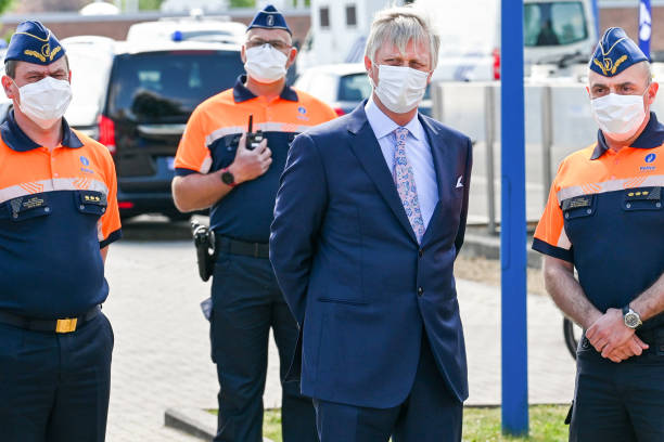 BEL: King Philippe V Of Belgium Visits A Police Station