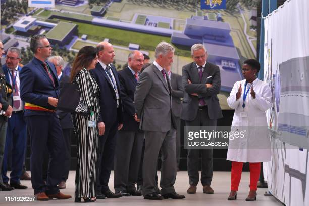 King Philippe of Belgium visits the MYRRHA facilities at the SCK-CEN nuclear research centre in Mol on June 26, 2019 / Belgium OUT