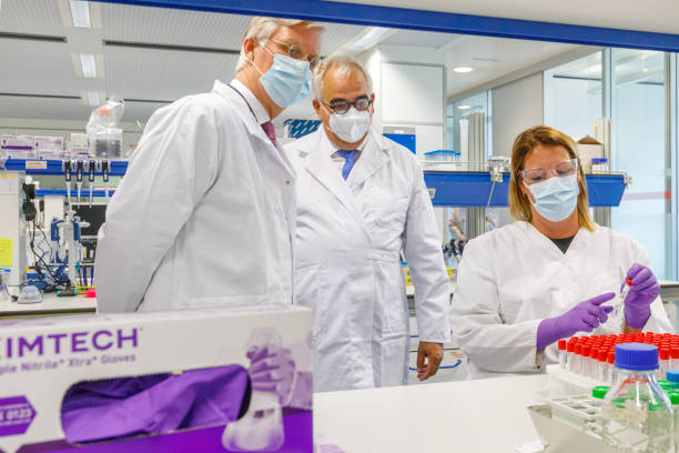 BEL: King Philippe Of Belgium Visits The Seat And Lab Of Candidate Vaccine Against Covid-19 Developer Janssen Pharmaceutica In Beerse
