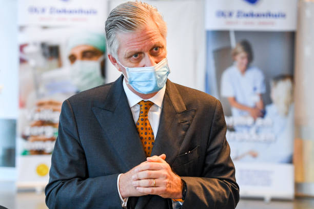 BEL: King Philippe Of Belgium & Queen Mathilde Visit The Our Lady Hospital And The General Municipal Hospital In Alost