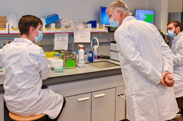 BEL: King Philippe Of Belgium Visits The ULiege Covid-19 Lab In Liege