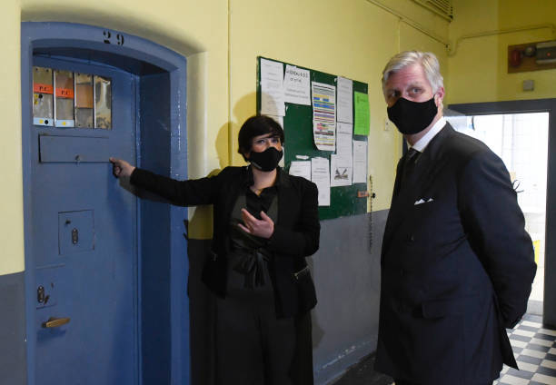 BEL: King Philippe Of Belgium Visits One Of The Smallest Prisons Of Belgium In Huy