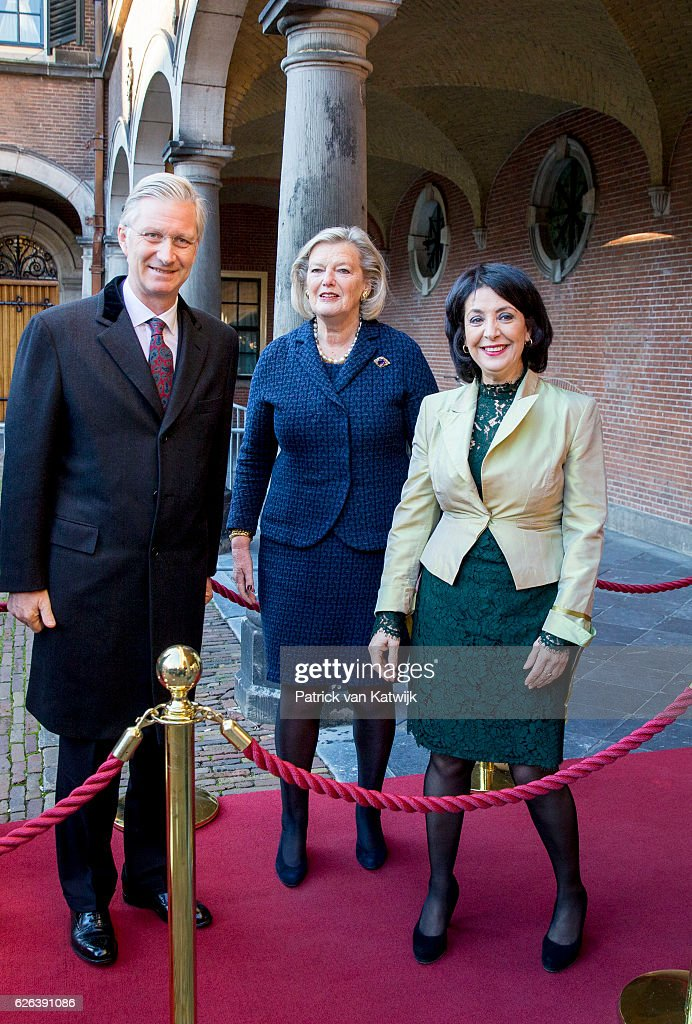 Queen Mathilde of Belgium and King Philippe of Belgium On A 3 Day Official Visit In Holland : Day Two : News Photo
