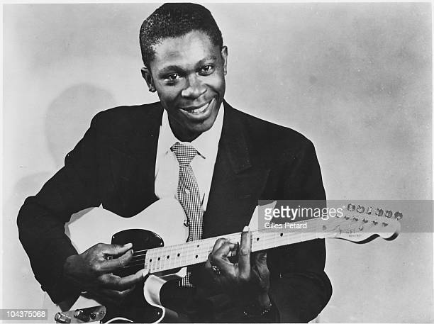 BB King poses for a studio portrait in 1955 in the United States He holds a Fender Esquire guitar