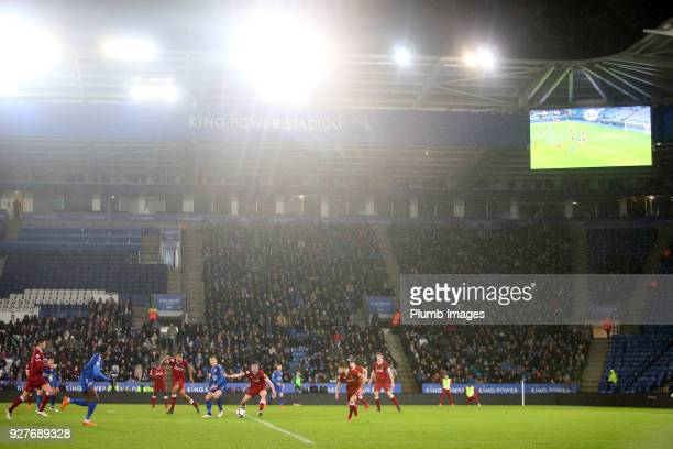 King Power Stadium during the Premier League 2 match between Leicester City and Liverpool at King Power Stadium on March 5 2018 in Leicester United...