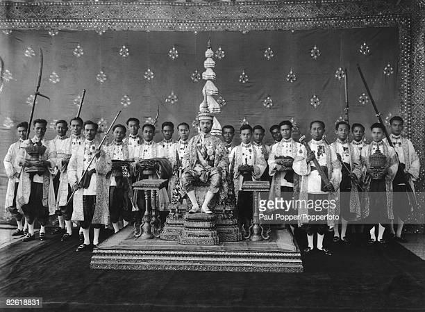 King Prajadhipok of Siam at his coronation 26th November 1926