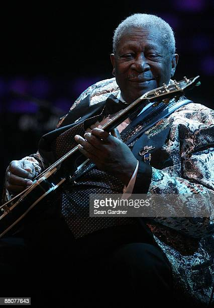 B King preforms during the the Domino Effect Benefit Concert at the New Orleans Arena on May 30 2009 in New Orleans Louisiana