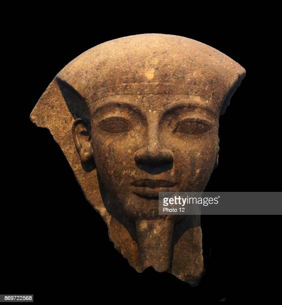 King Ramesses VI fragment of the lid of the monarch's mummiform sarcophagus Ramesses is shown as Osiris ruler of the afterlife 20th Dynasty reign of...