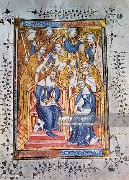 King Richard II and Anne of Bohemia his Queen From the fourteenthcentury Coronation Order of Service the Liber Regalis The manuscript is thought to...