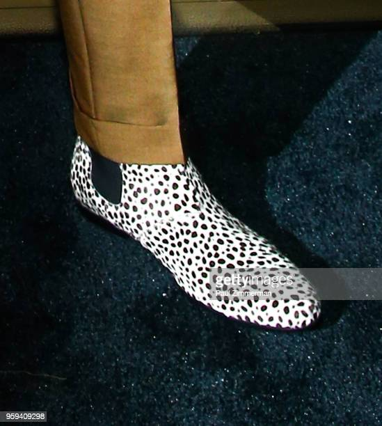 King shoe detail at the 2018 CFDA Fashion Awards' Swarovski Award For Emerging Talent Nominee Cocktail Party at DUMBO House on May 16 2018 in New...