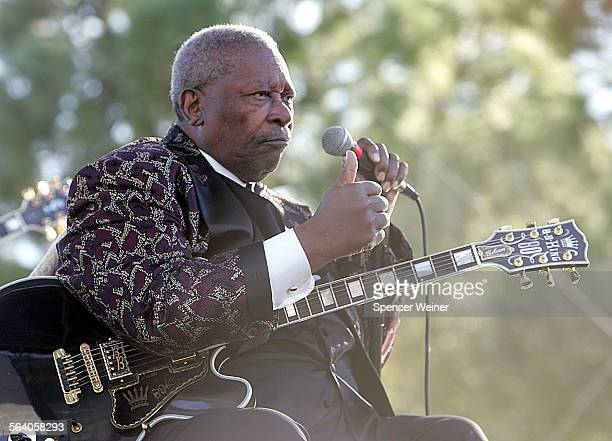 BB King signals his approval to the crowd as he arrives onstage at Lake Castaic for the 22nd annual Love Ride Sunday November 13 The Love Ride is a...