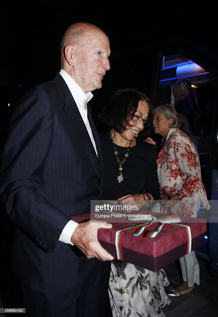 King Simeon of Bulgaria and Queen Margarita Gomez-Acebo attend the Golden Wedding Anniversary of King Constantine II and Queen Anne Marie of Greece at Acropolis Museum on September 17, 2014 in Athens, Greece.