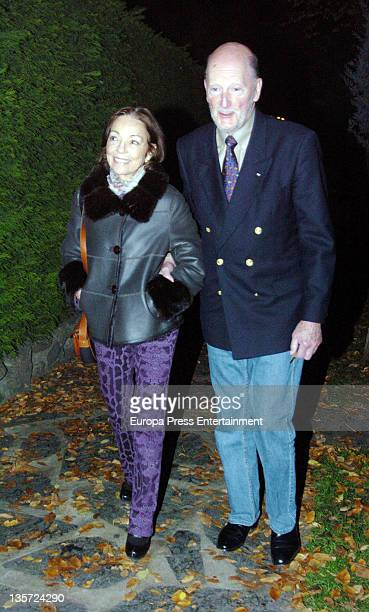 King Simeon of Bulgaria and Queen Margarita visit their son Prince Kardam of Bulgaria to celebrate his 49th's birthday on December 2, 2011 in Madrid,...
