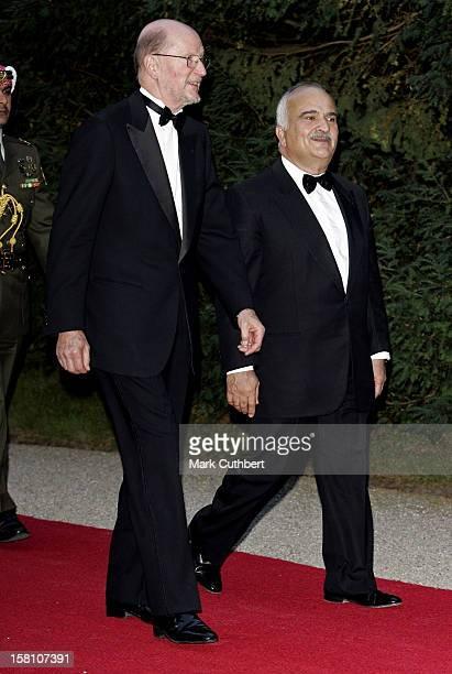 King Simeon Of Bulgaria Attends The Silver Wedding Anniversary Celebrations Of Grand Duke Henri & Grand Duchess Maria-Theresa Of Luxembourg.Gala...