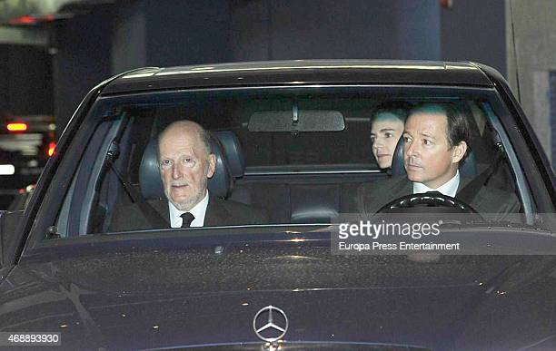 King Simeon of Bulgaria Maria Garcia de la Rasilla Prince Konstantin of Bulgaria attend the funeral chapel for Prince Kardam of Bulgaria on April 7...