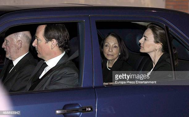 King Simeon of Bulgaria Prince Konstantin of Bulgaria Queen Margarita GomezAcebo Maria Garcia de la Rasilla attend the funeral chapel for Prince...