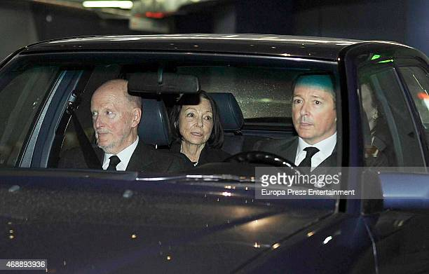 King Simeon of Bulgaria Queen Margarita GomezAcebo and Prince Konstantin of Bulgaria attend the funeral chapel for Prince Kardam of Bulgaria on April...
