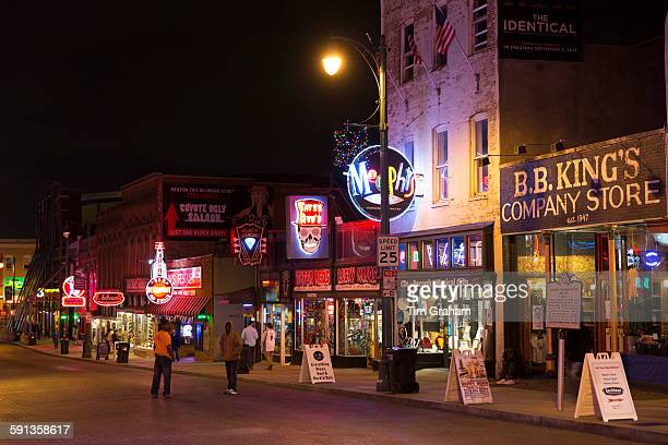 King Store music venues in Beale Street entertainment district famous for Rock and Roll and Blues Memphis Tennessee