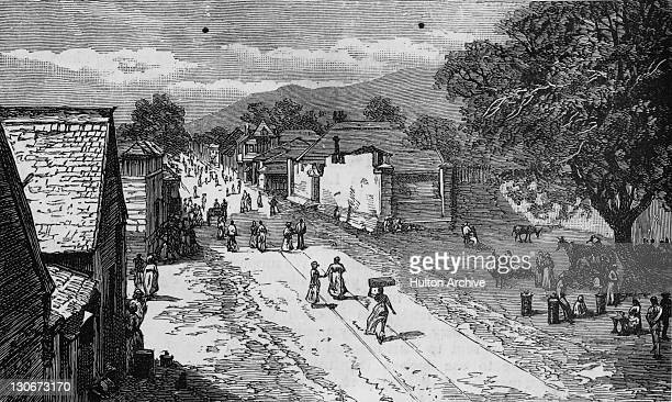 King Street in Kingston Jamaica circa 1800
