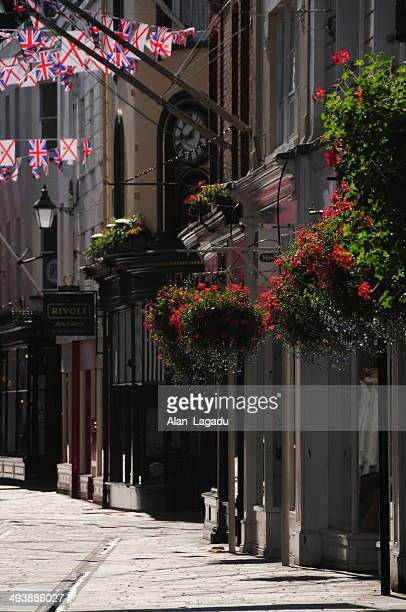 king street, jersey. - jersey england stock photos and pictures
