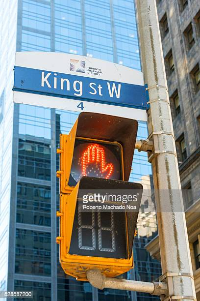 King Street's pedestrian crossing red signal found at the downtown area