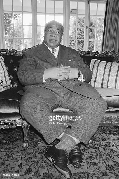 King Taufa'ahau Tupou IV of Tonga during a visit to London, England, circa 1980.