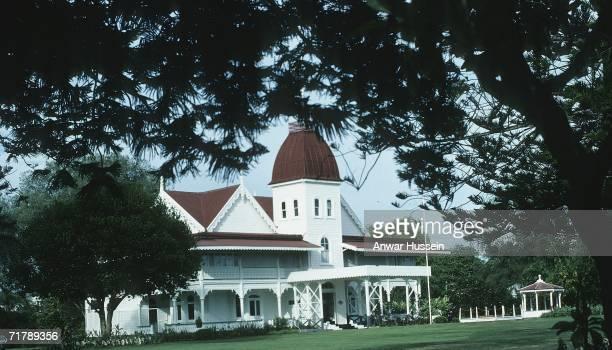 King Taufa'ahau Tupou lV of Tonga's 19th century palace is seen in February 1977 in Nuku'alofa, Tonga.