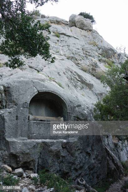 King tomb in Termessos Ancient City, Antalya - Turkey