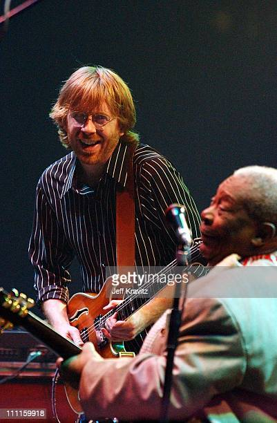 BB King Trey Anastasio during Phish Live in New Jersey at Continental Airlines Arena in Secaucus New Jersey United States