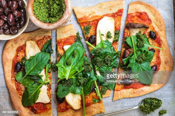 King Trumpet Mushroom and Quinoa Pizza
