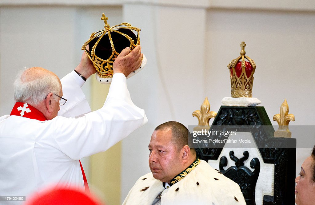 King Tupou VI of Tonga is crowned during the official coronation ceremony at the Free Wesleyan Church on July 4, 2015 in Nuku'alofa, Tonga. Tupou VI succeeds his brother, King Tupou V, who passed away in 2012.
