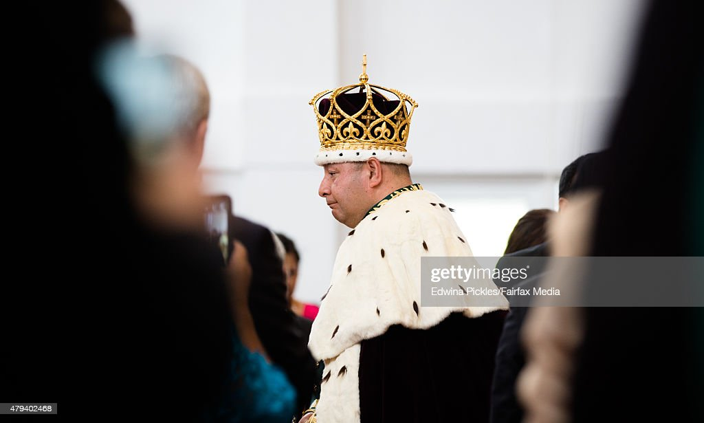 King Tupou VI of Tonga leaves the Free Wesleyan Church after the official coronation ceremony on July 4, 2015 in Nuku'alofa, Tonga. Tupou VI succeeds his brother, King Tupou V, who passed away in 2012.