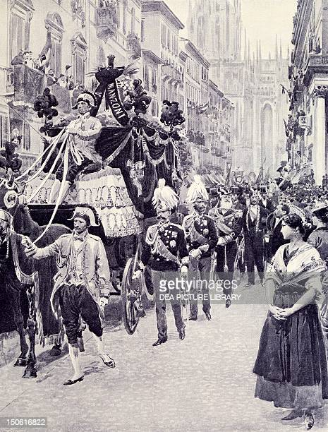 King Umberto I's funeral by Alessandro Manzoni May 29 from Italian Illustration Italy 19th century