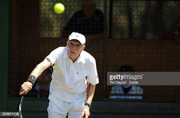 King Van Nostrand from Long Island NY winning the Men��s 75��s age category during the 2009 ITF SuperSeniors Individual Championship which concluded...