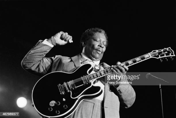BB King vocalguitar performs at the North Sea Jazz Festival in the Hague the Netherlands on 15th July 1990
