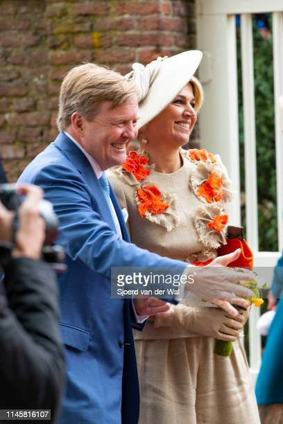 King Willem Alexander and Queen Maxima during their visit to the city of Amersfoort to celebrate Kingsday on April 27 2019 in Amersfoort Netherlands...